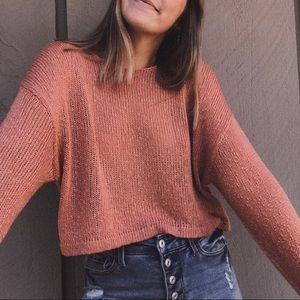 F21 | Coral Knitted Lightweight Sweater